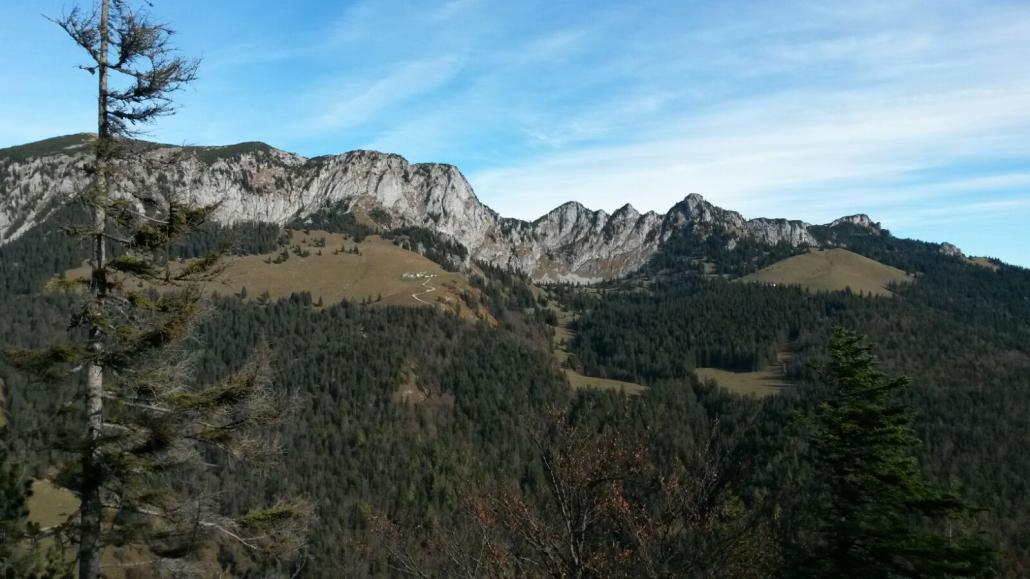 Die Achselköpfe zwischen Brauneck und Benediktenwand