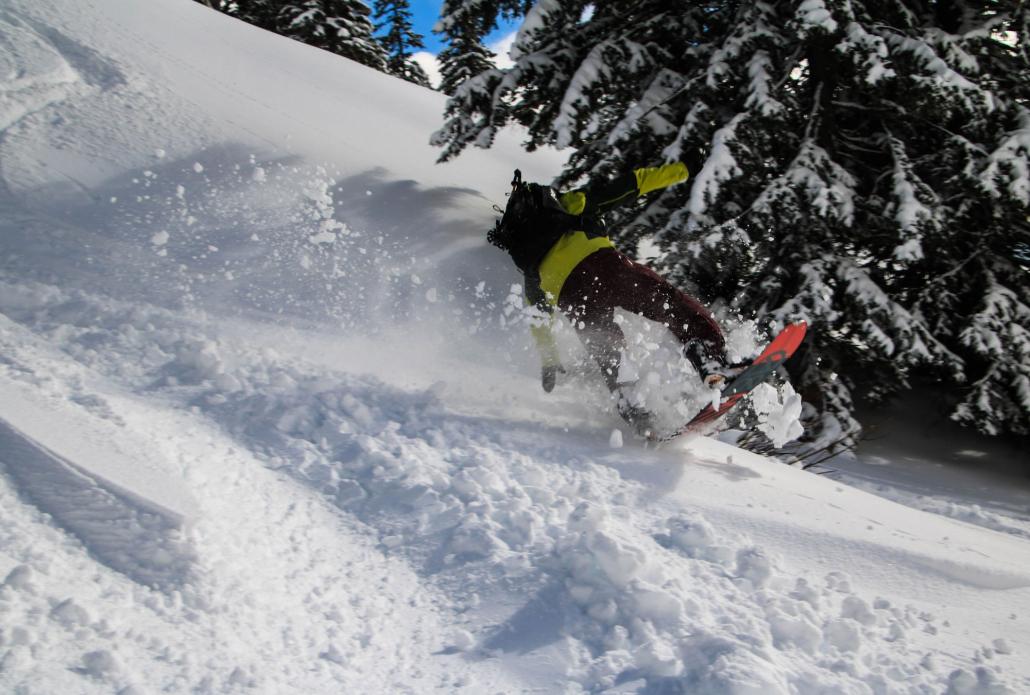 Wilder Ritt durch den Neuschnee